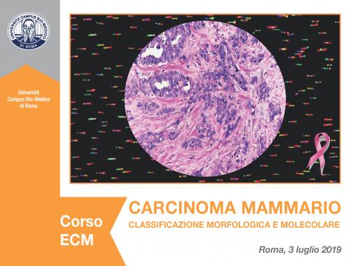 3 Luglio 2019 – Corso ECM: Carcinoma mammario, classificazione morfologica e molecolare